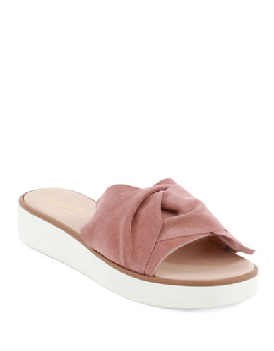Seychelles Bow Slide Sandals-PINK-6.5