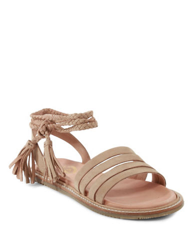 Seychelles Botanical Tassel Leather Sandals-TAUPE-10