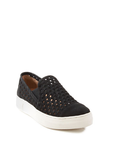 Seychelles Latest Leather Sneakers-BLACK-6.5