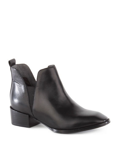 Seychelles Offstage Leather Booties-BLACK-6