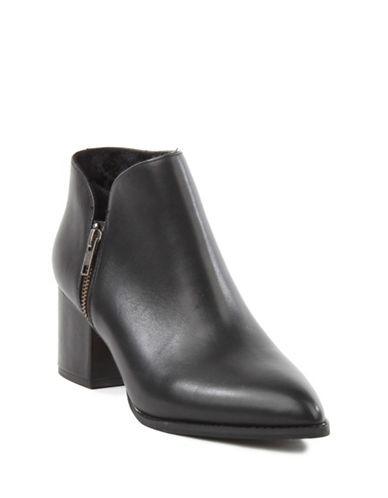 Seychelles Chaparral Block Heel Leather Booties-BLACK-7.5
