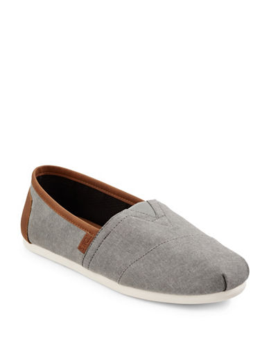 Toms Classic Slip-On Canvas Shoes-GREY-10.5