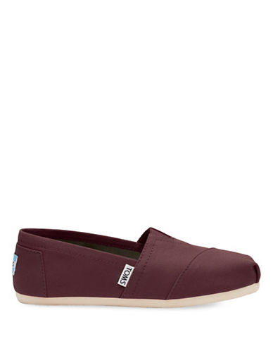 Toms Canvas Slip-On Sneakers-RED-6