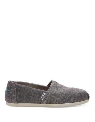 Toms Washed Denim Alpargata Shoes-GREY-6