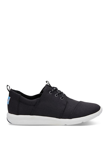 Toms Womens Del Rey Cap Toe Low Top Sneakers-BLACK-7