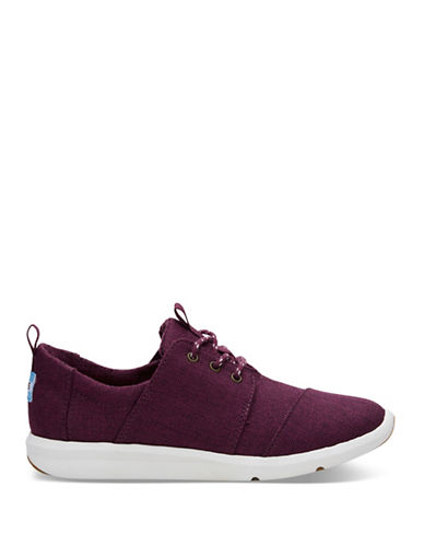 Toms Womens Del Rey Cap Toe Low Top Sneakers-BLACK CHERRY-8