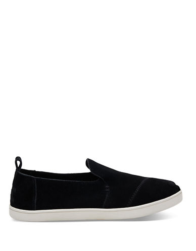 Toms Womens Alpargata Suede Slip-On Sneakers-BLACK-9