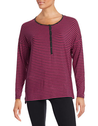G.H. Bass & Co. Striped Henley Top-PINK-Small 88150961_PINK_Small