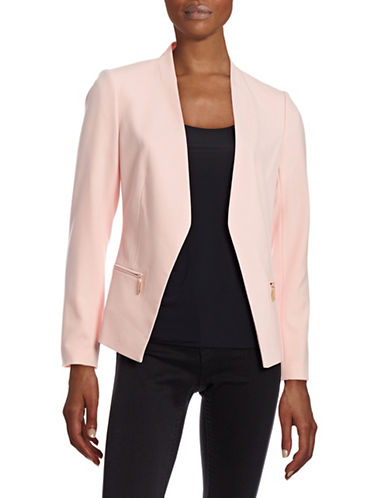 Ivanka Trump Zip Pocket Blazer-PINK-6