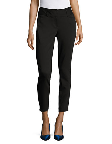 Ivanka Trump Slim Ankle Pants-BLACK-6