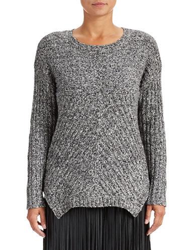 Kensie Rib Knit Sharkbite Sweater 87798386