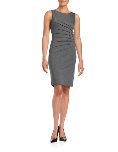 Ivanka Trump Starburst Sheath Dress-CHARCOAL-4