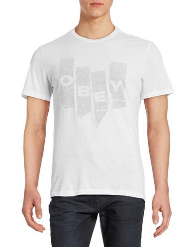Obey Ultra-Soft Torn-Up Tee-WHITE-Medium 88454270_WHITE_Medium