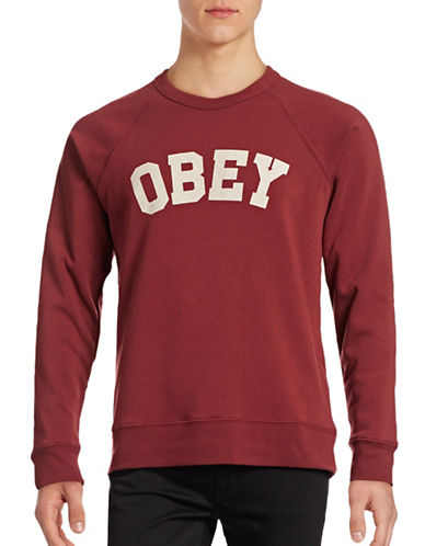 Obey Academy Crew Sweater-RED-Medium 88842231_RED_Medium
