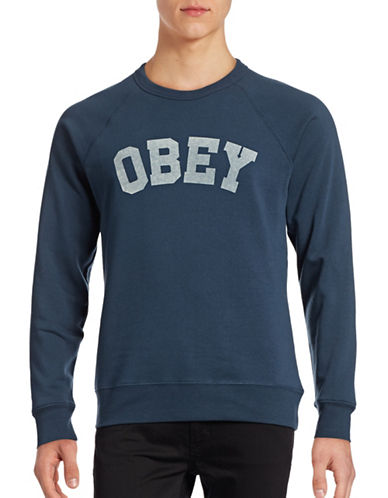 Obey Academy Crew Sweater-BLUE-Small 88842226_BLUE_Small