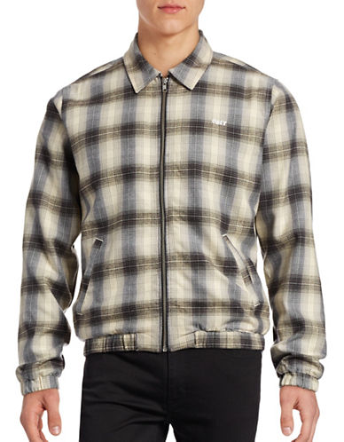 Obey Flannel Zip Jacket-GREY-Small 88842246_GREY_Small