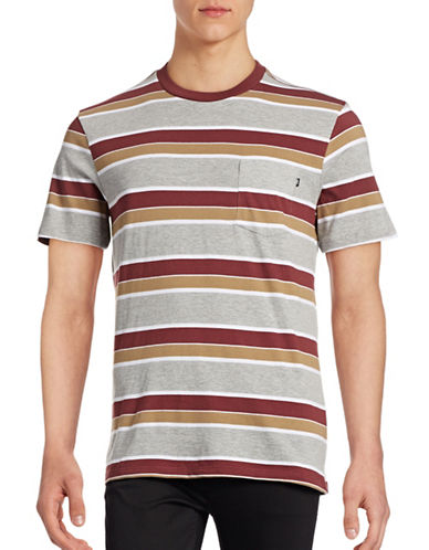 Obey Berkley Striped T-Shirt-RED-Large 88842258_RED_Large
