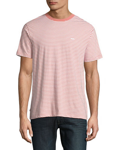 Obey Apex Striped T-Shirt-PINK-X-Large 88984567_PINK_X-Large
