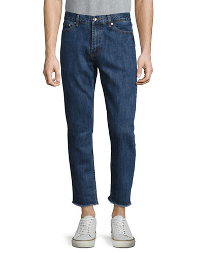 Obey Thread Cut Straight Jeans-BLUE-33