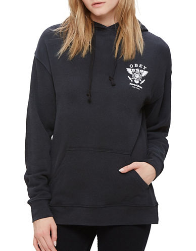 Obey Liberty and Justice Pullover Hoodie-GREY-Small 89080721_GREY_Small