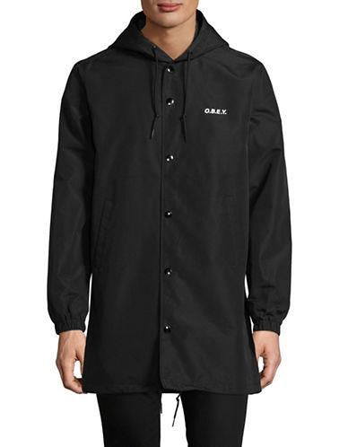 Obey Hester Hooded Jacket-BLACK-Large