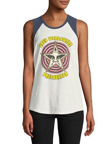 Obey Star Crusher Tank Top-HEATHER NATURAL-Small
