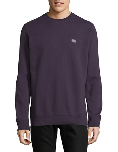 Obey Park Crew Neck Sweatshirt-PURPLE-Large