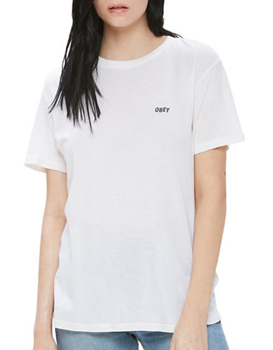 Obey Obey Jumbled Split Fountain Drifter Tee-GARDENIA-Medium
