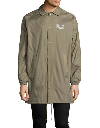 Obey Eyes Trench Coat-GREY-Small