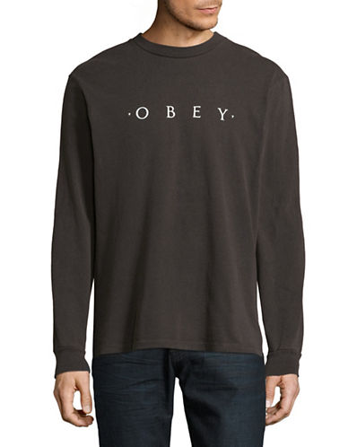 Obey Novel Obey Long-Sleeve T-Shirt-BLACK-Large