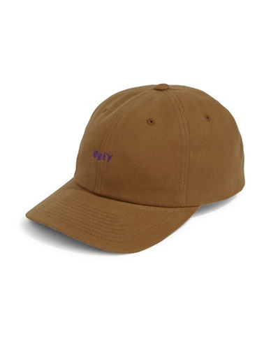Obey Cutty Six-Panel Snapback Cap-BROWN-One Size