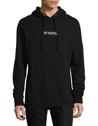 Obey Athletic Hoodie-BLACK-X-Large
