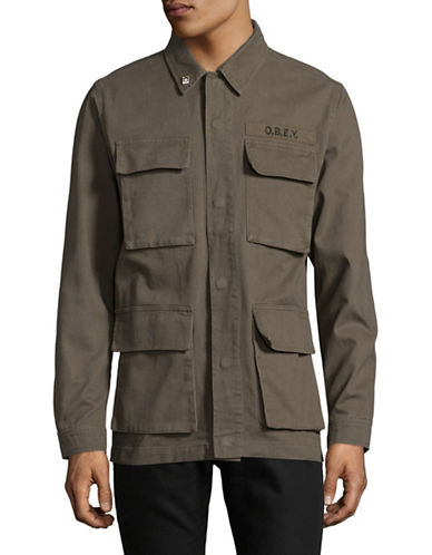 Obey Faded Jacket-GREEN-Medium