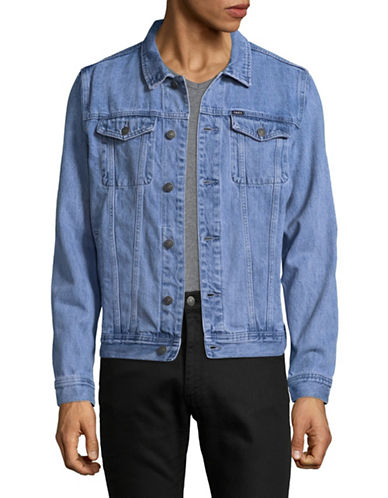 Obey Vicious Denim Jacket-BLUE-Small