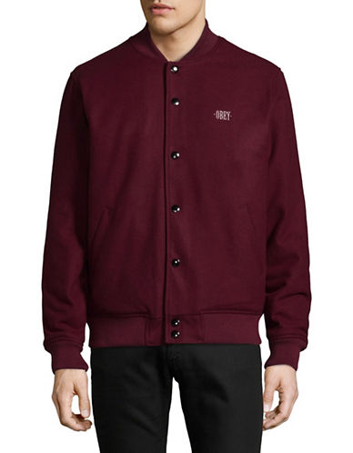 Obey Classic Varsity Jacket-RED-Medium 89331585_RED_Medium