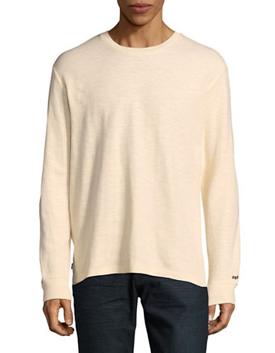 Obey Ribbed-Knit Long-Sleeve T-Shirt-WHITE-Large