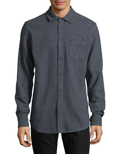 Obey Harrington Woven Shirt-NAVY-Small