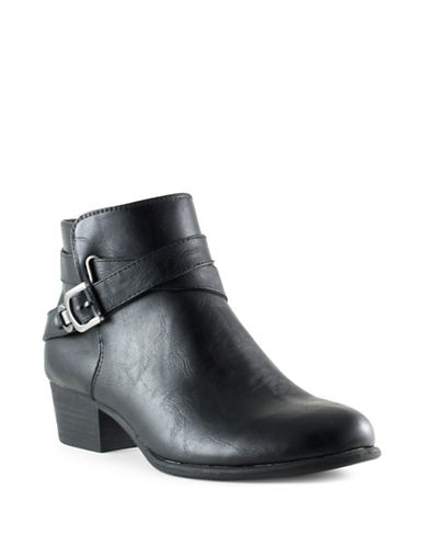 Unisa Pippi Buckle Booties-BLACK-9.5