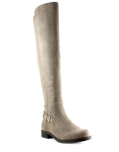 Unisa Cherie Faux Suede Tall Boots-BEIGE-7.5