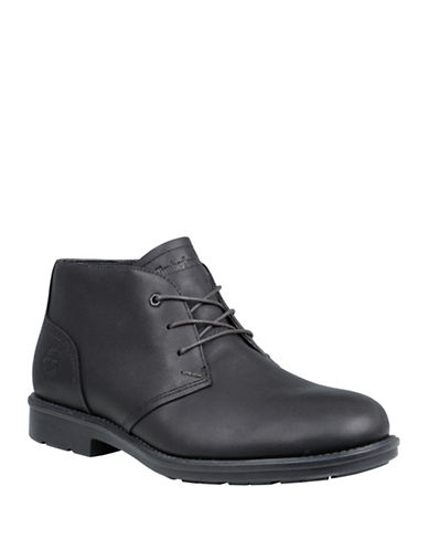 Timberland Carter Notch Leather Chukka Boots-BLACK-10