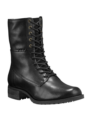 Timberland Banfield Leather Boots-BLACK-7