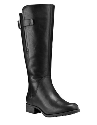 Timberland Banfield Leather Knee-High Boots-BLACK-7.5