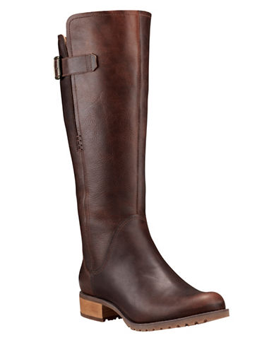 Timberland Banfield Leather Knee-High Boots-BROWN-6