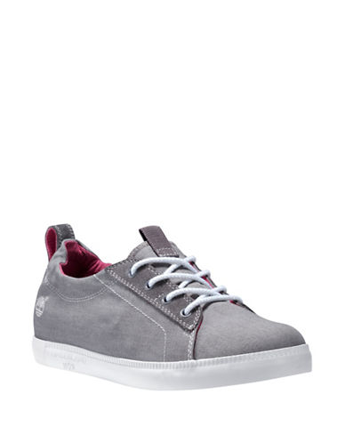Timberland Newport Bay Canvas Oxford Sneakers-GREY-5.5