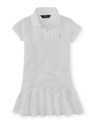 Ralph Lauren Childrenswear Mesh Polo Dress-WHITE-4T
