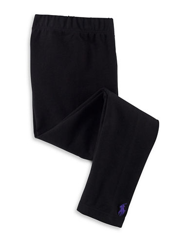 Ralph Lauren Childrenswear Solid Jersey Leggings-BLACK-6X