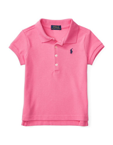 Ralph Lauren Childrenswear Stretch Cotton Polo Shirt-PINK-6X
