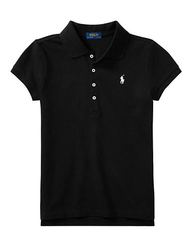 Ralph Lauren Childrenswear Stretch Cotton Polo Shirt-BLACK-4 88811094_BLACK_4