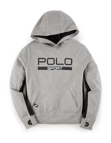 Ralph Lauren Childrenswear Fleece Pop-Over Hoodie-ANDOVER HEATHER-Small 88043987_ANDOVER HEATHER_Small
