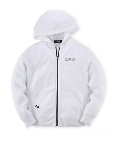 Polo Sport Fleece Zip-Up Hoodie-PURE WHITE-Small 88159524_PURE WHITE_Small